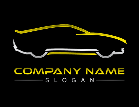 Car logotype black background