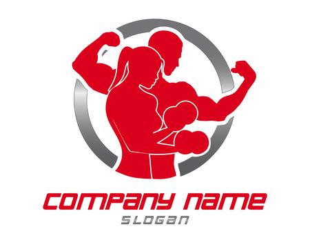 Logo gym  イラスト・ベクター素材