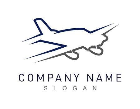 tour operator: plane vector logo