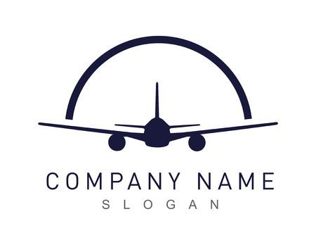 Airplane logotype Illustration