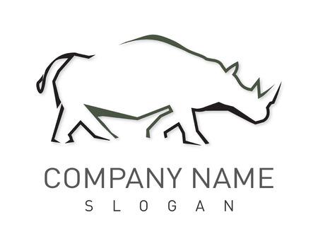 Rhino lgotype Ilustrace