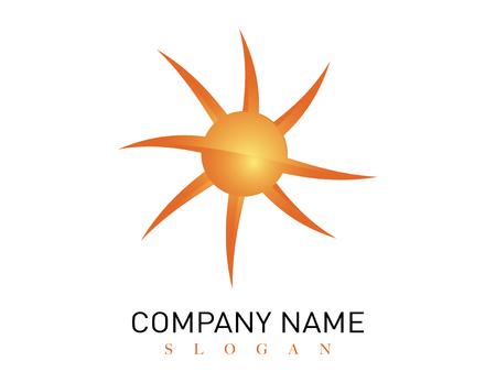 Modern sun logo Ilustracja