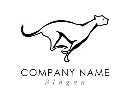 Panther running logo