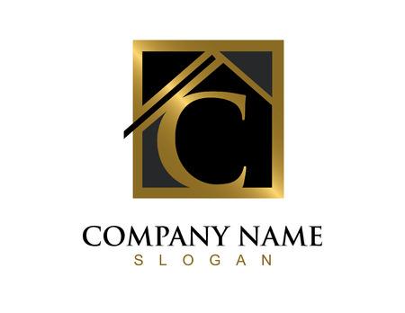 Logo de la lettre d'or lettre C