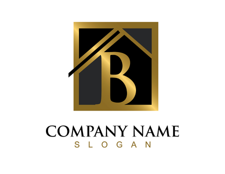 commercial painting: Gold letter B house logo