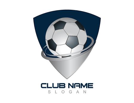 Soccer ball shield Illustration