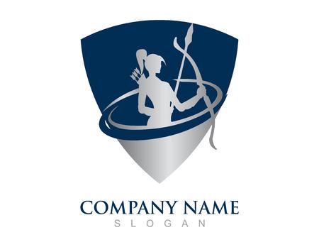 Wojownik kobieta logo Logo