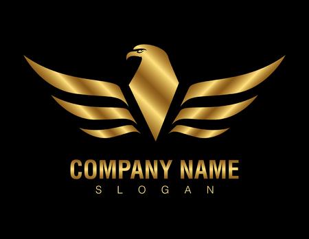Logo złotego orła Logo