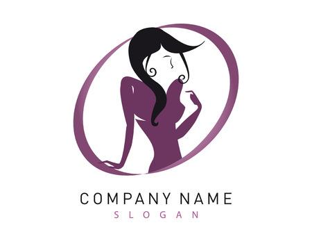 manicurist: Woman logotype