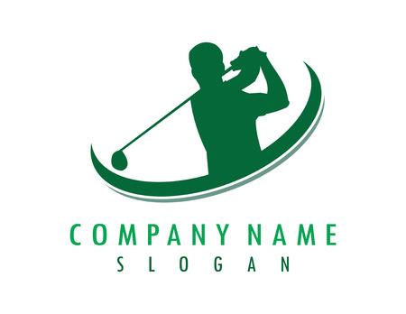 Projekt golfisty Ilustracje wektorowe