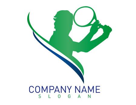 Logo tennis  イラスト・ベクター素材