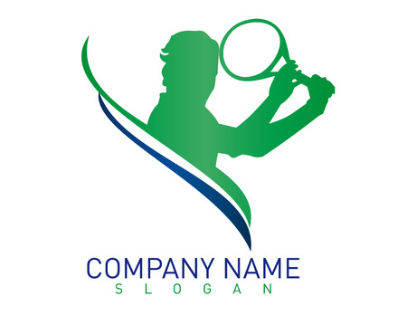Logo tennis Stock Illustratie
