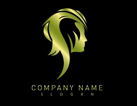 manicurist: Profile gold woman design