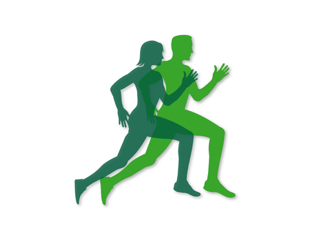 Runners vector design