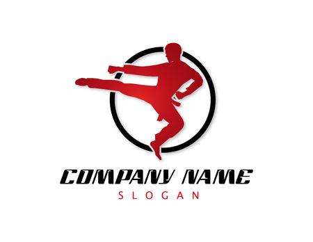 Martial arts design logo type. Vettoriali