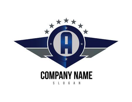 Letra A Escudo logo