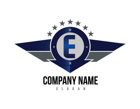 Logotipo do escudo da letra E