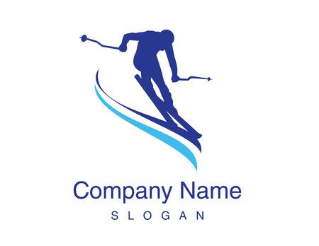 Ski design Illustration