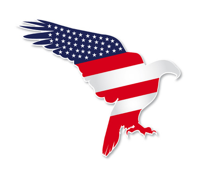 American eagle design Иллюстрация