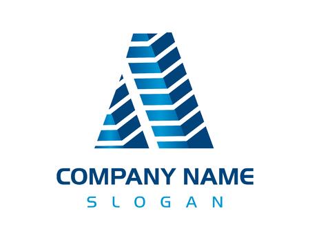 Letter A constructie pictogram. Stock Illustratie