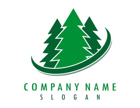 Pine logo Illustration