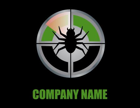 Pest control logo black background