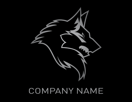 Wolf diseño de fondo negro