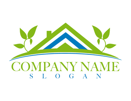eco slogan: Eco house logo Illustration
