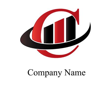 C financial logo Ilustracja