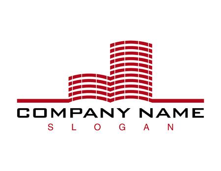 Rood gebouw logo