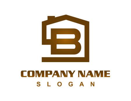 Letter B huis logo Stock Illustratie