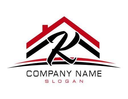 K huis logo Stock Illustratie