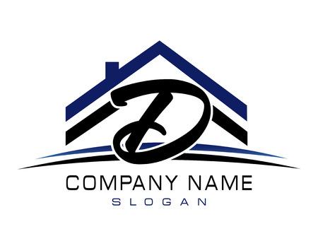 D house logo Иллюстрация