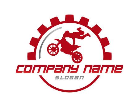 motorcycle stunt logo