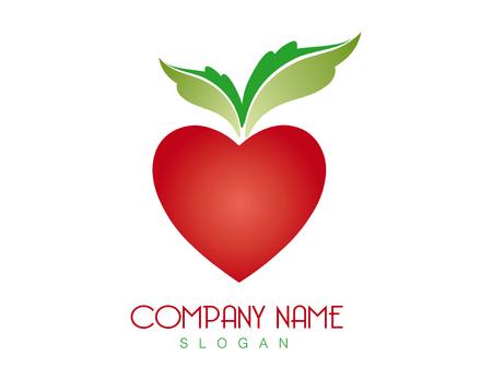 Apple heart logo Иллюстрация