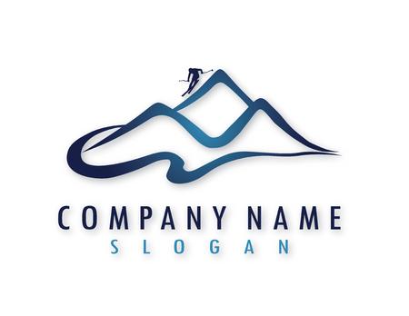 Logo sport de ski
