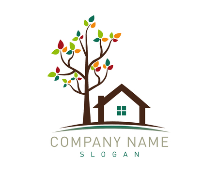 tree and house logo