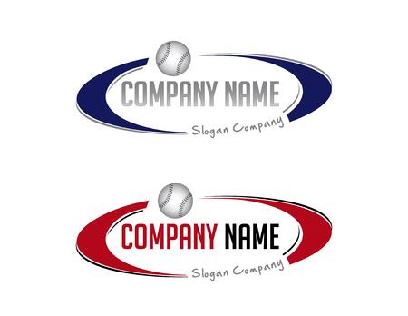 Oval baseball logo Reklamní fotografie - 82742203