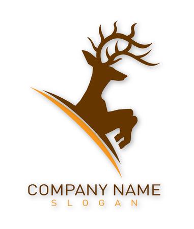 Deer logo Иллюстрация
