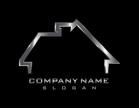 Metallic house logo