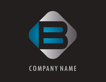 B business logo 向量圖像