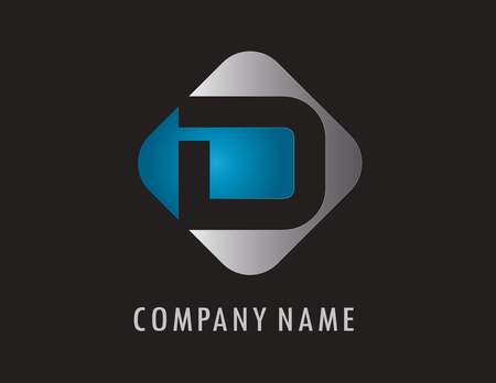 D business logo 向量圖像