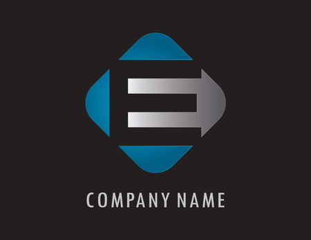 E business logo