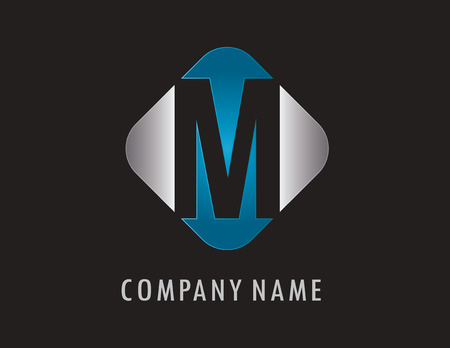 M business logo