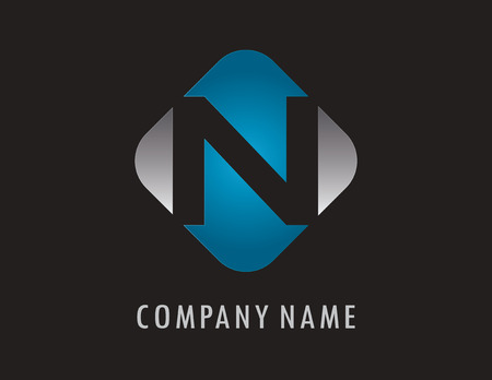 N business logo 向量圖像