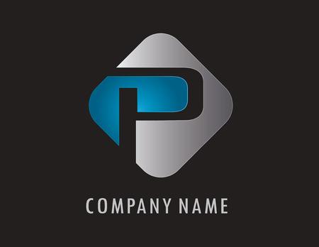 P business logo Illustration