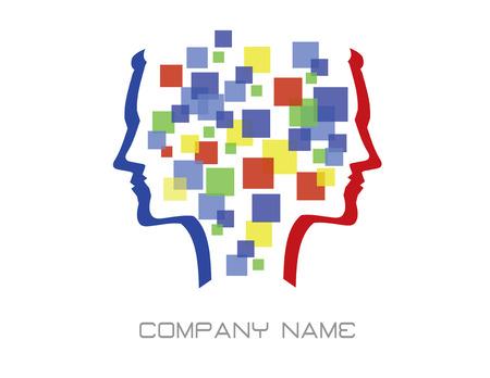 抽象的な頭のロゴ