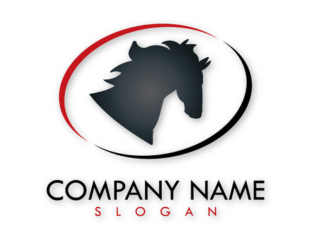 Horse business logo Illustration