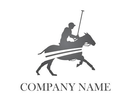 Polo player logo Illustration