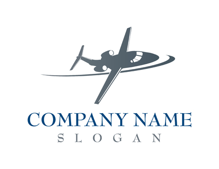 飛行機の会社のロゴ  イラスト・ベクター素材